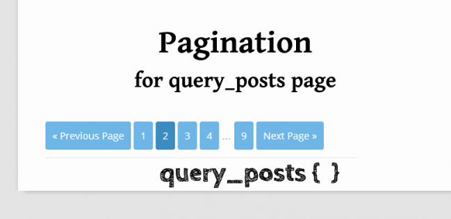 pagination query posts page navi