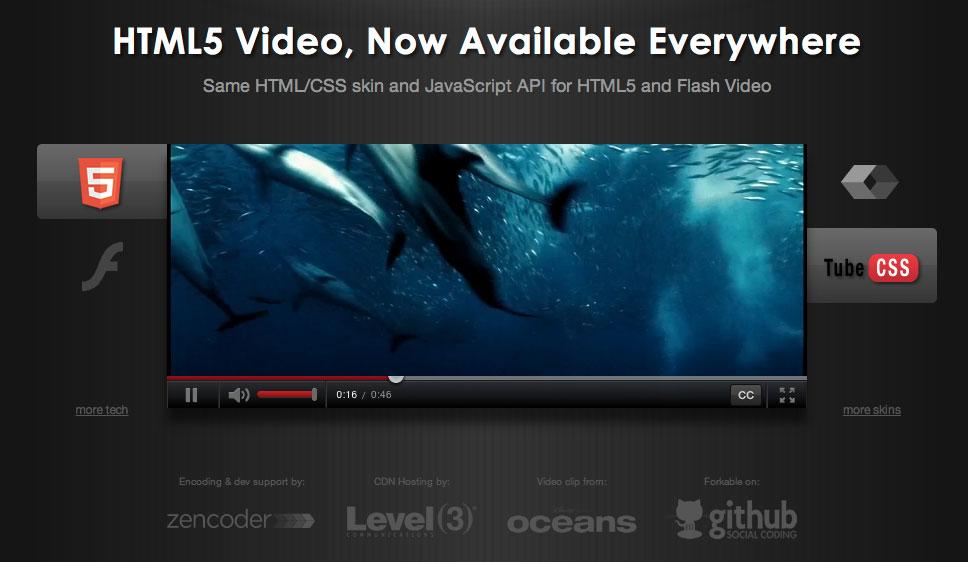 video js html5 css